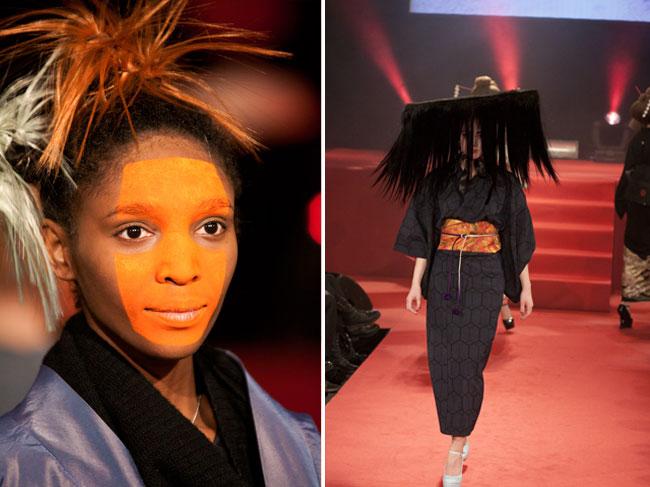 Om ikke det er geisha-stilen som vil prege en norsk motesommer, så var den effektfull på catwalken.