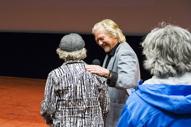 Morten Krogvold er kunstnerisk leder for Nordic Light-festivalen. Han hadde spørsmål til Imboden.