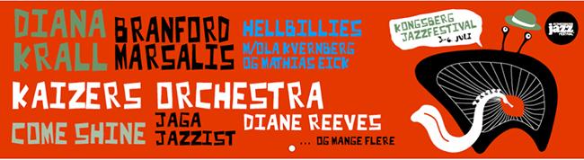 Fritt og heftig med band som Hellbillies, Kaizers Orchestra,  Jaga Jazzist og mange flere på Kongsberg Jazzfestival i år.
