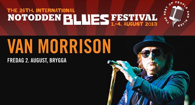 1– 4. august er det Notodden bluesfestival. I år kommer  musikklegenden, Van Morrison.
