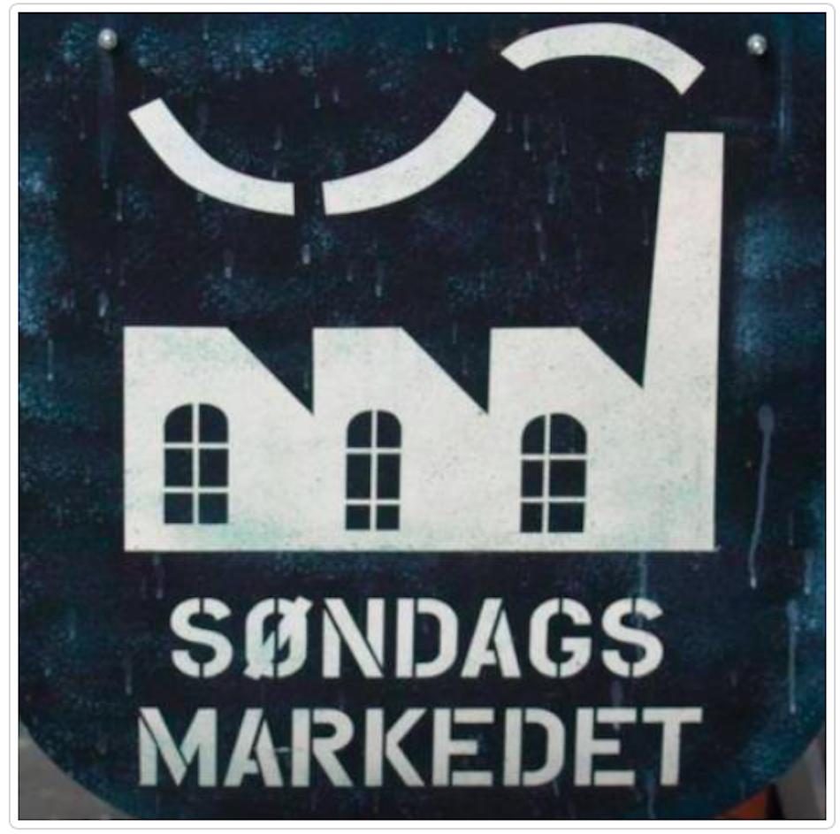 Hjemme- og håndlagd på Søndagsmarkedet. Faksimile facebooksiden til Søndagsmarkedet Blå