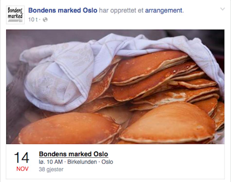Faksimile: Bondens Marked Oslo, Facebook